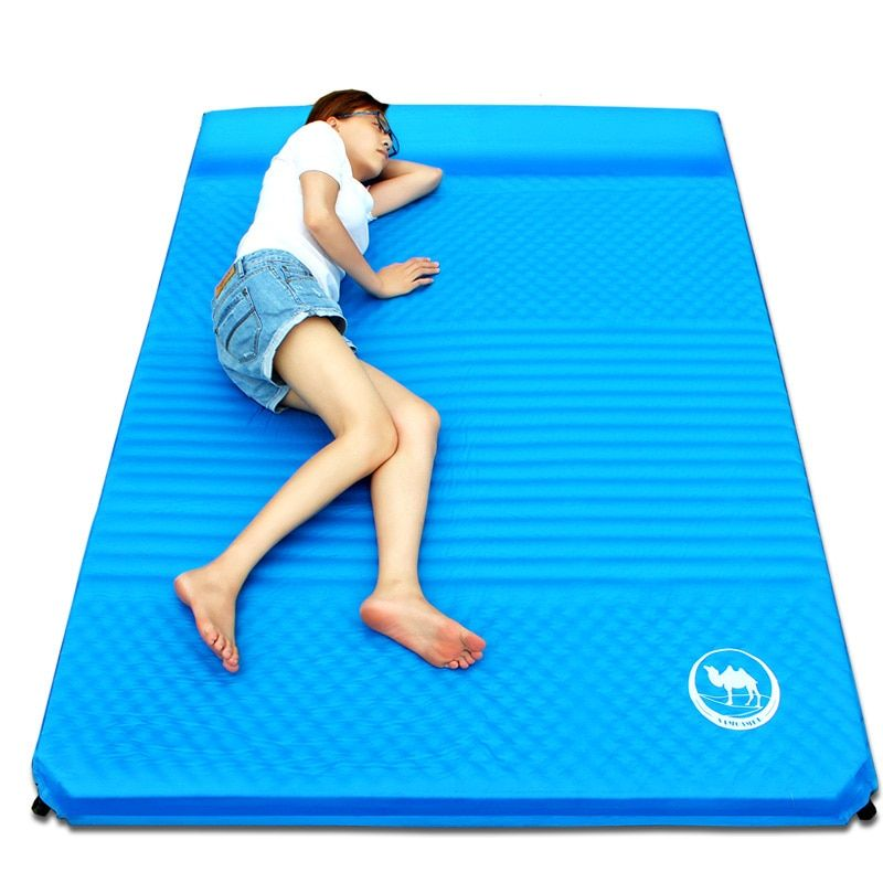 2017 New Arrival 190*130*(5+2.5)cm 1-2 Person Automatic Inflatable Mattress Outdoor Camping Fishing Beach Mat Sleeping Pad