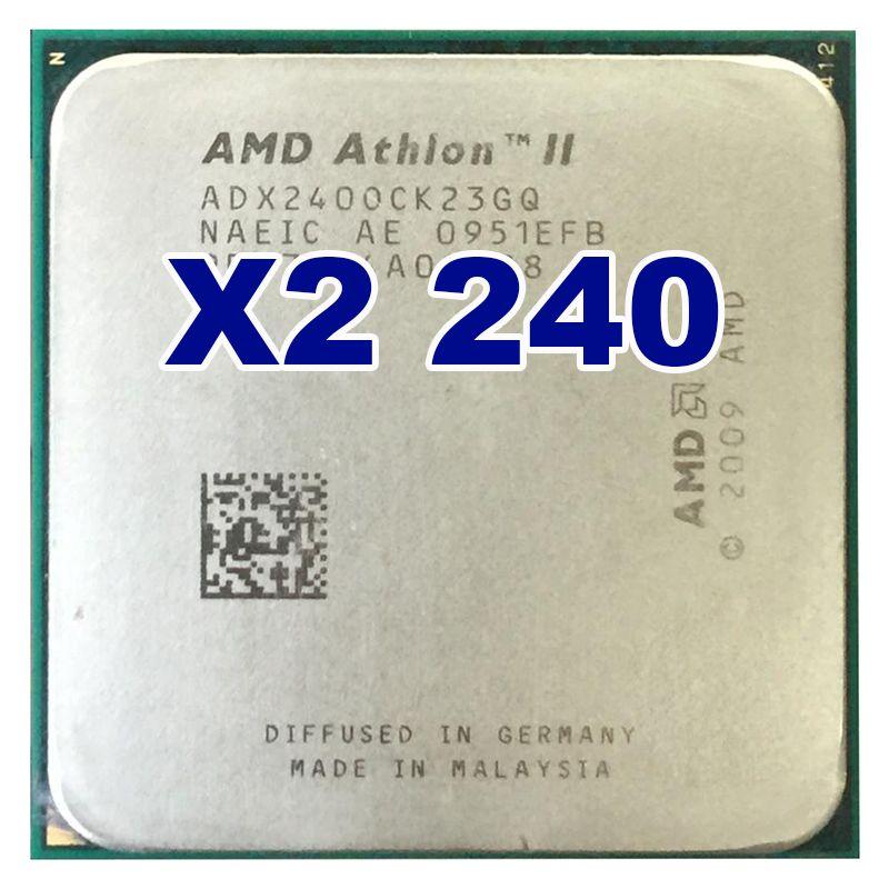 Original AMD CPU Athlon II X2 240 CPU 2,8 GHz Sockel AM3 AM2 + Prozessor 65 Watt 4000 MHZ Pib Dual-Core