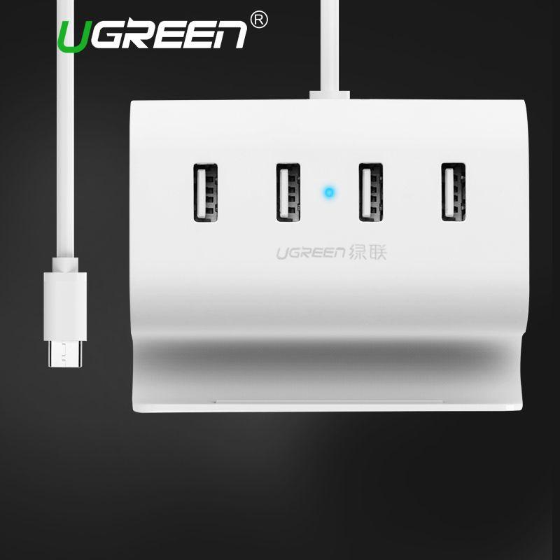 Ugreen USB C HUB 4 Ports Super Speed Type C Moyeux avec Alimentation Interface Type-c USB Splitter pour Macbook USB-C Hubs