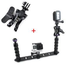 F18282-A Handheld Selfie Monopod Diving Underwater Light Arm Aluminum Mount for GoPro 3/3+/4 Xiaoyi SJ4000 SJ5000 SJ6000 Camera