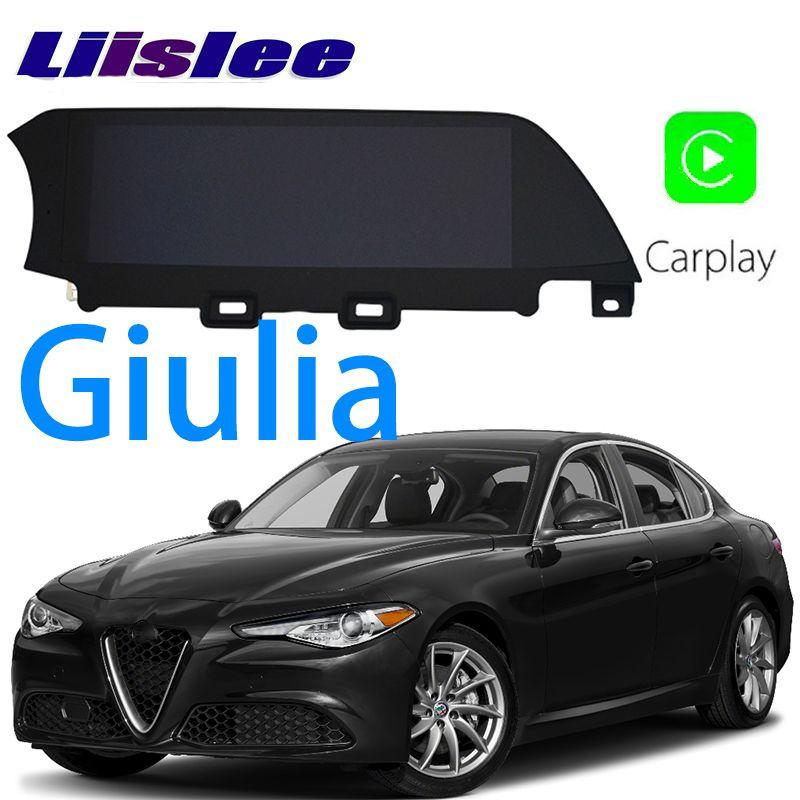LiisLee Car Multimedia GPS HiFi Audio Radio Stereo For Alfa Romeo Giulia 2016~2018 Original Style Navigation NAVI