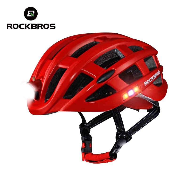 ROCKBROS Cycling Helmet Bike Ultralight Helmet With Light Integrally-molded <font><b>Mountain</b></font> Road Bicycle Helmet Safe Men Women 49-62cm