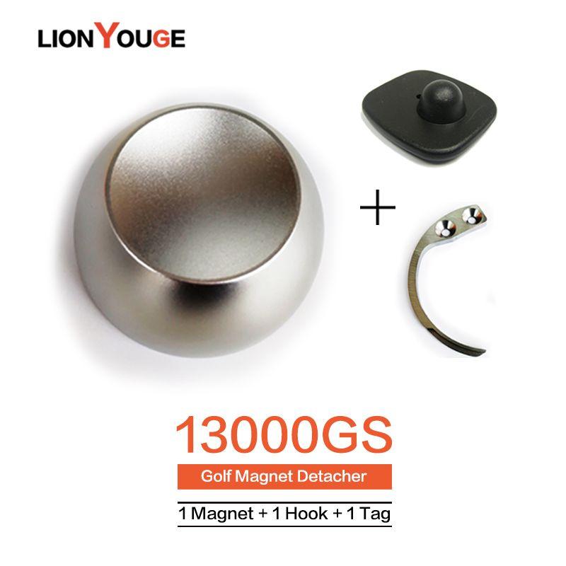 13000GS EAS System Tag Remover Super Magnet Golf Detacher Security Lock For Supermarket Clothes store 1Magnet+1Hook+1Tag