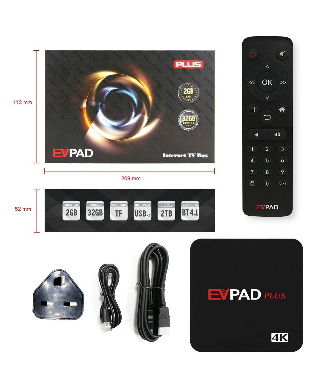 2018 Evpad plus 2G 32G 8 Core HDMI 4K 1080P Bluetooth Android TV Box