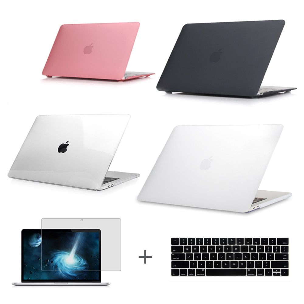 For New MacBook Pro 13 15 Case 2016 2017 A1706 A1708 A1707 w/out Touch Bar & Retina Clear Crystal Matte Hard Case Air 13.3
