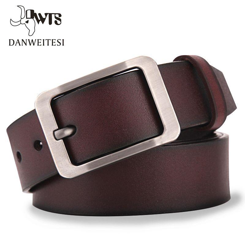 [DWTS] ceinture en cuir pour hommes hommes bracelet en cuir véritable de luxe boucle ardillon décontracté hommes ceinture Cummerbunds ceinture homme
