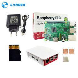H Raspberry Pi 3 Model B starter kit-pi 3 board / pi 3 case / European power supply/16 G memory card /heat sink