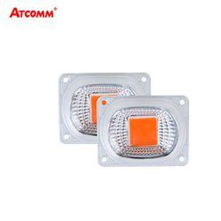 Светодиодный светильник для выращивания фитолампы с отражателем объектива 20 Вт 30 Вт 50 Вт 110 В 220 В COB светодиодный чип полный спектр светать п...