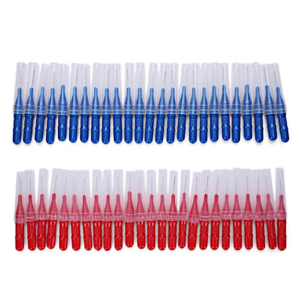 2.5MM 50Pcs/Set Brushing Teeth Crevice Between Teeth Toothbrush Cleaning Tool Teeth Care Dental Interdental Brush