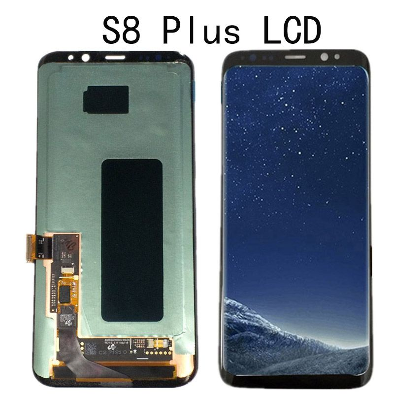 AMOLED For Samsung galaxy S8 G950 Lcd Display Touch Screen Digitizer Assembly For Samsung S8 Plus G955 G955F lcd with Frame
