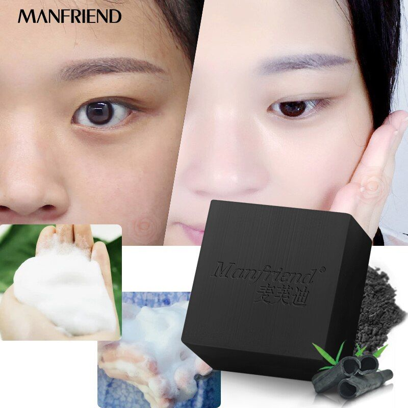 Bamboo Charcoal Facial Soaps Deep Cleaning Oil Control BlackHead Remover Acne Shrink Pores Whitening Skin Care Whitening Beauty