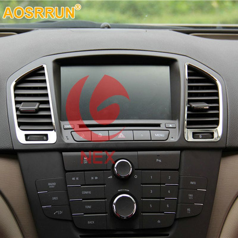 AOSRRUN Chrome central air outlet cover decorated sequins Car Accessories For opel Insignia sedan Sport Tourer 2009-2013 2014