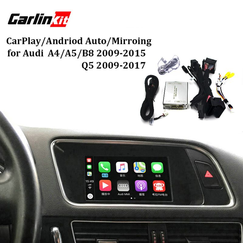 Carlinkit Video Interface Mit Carplay Bildschirm Mirroring Funktionen für A4 A5 B8 Q5 Mit Audi Konzert Symphonie Modell