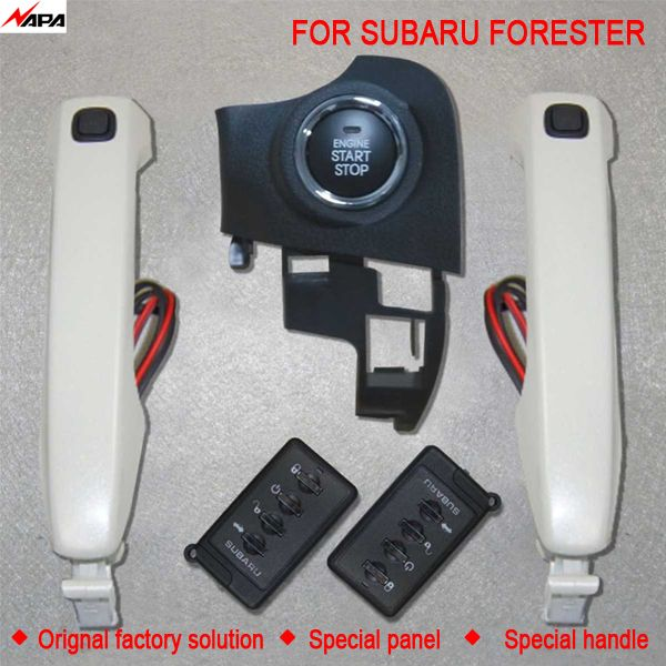 Car auto keyless entry push start with smart handle unlock remote start alarm system  for subaru forester