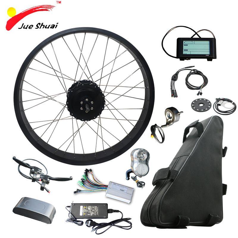 48 v 1000 watt Elektrische Fahrrad Kit mit 48 v 20AH Lithium-Batterie 4,0 Reifen Fett Bikes 20 26 Motor Rad Ebike elektronische diy kit