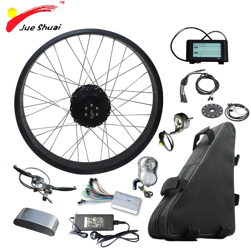 48V 1000W Electric Bicycle Kit with 48V 20AH Lithium Battery 4.0 Tire Fat Bikes 20