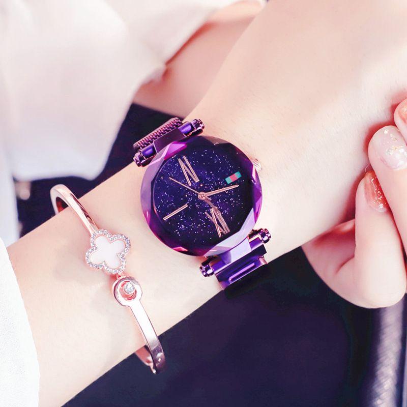 2018 neue ankunft Magnet uhr stern weiblichen China version von die einfache mode-trend wasserdichte frauen uhr Tik Tok heißer verkauf