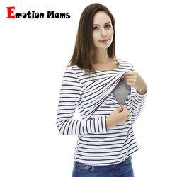 Emoción Moms moda embarazo maternidad ropa maternidad tops/t-shirt camisa de amamantamiento tops de enfermería para las mujeres embarazadas