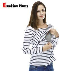 Emotion Moms Fashion pregnancy Maternity Clothes Maternity Tops/T-shirt Breastfeeding shirt Nursing Tops for pregnant women
