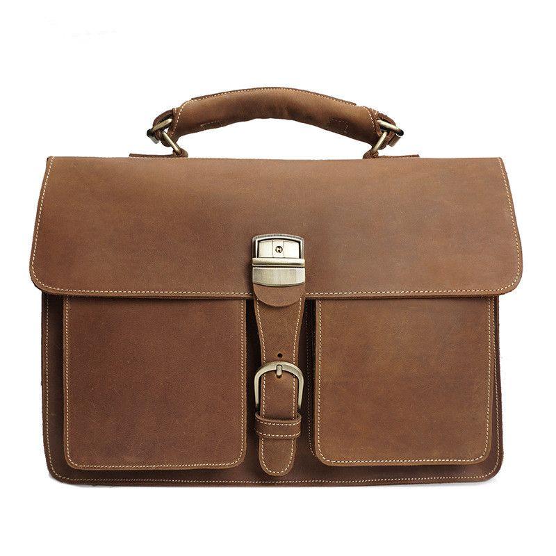 Crazy Horse leather bag man 2017 Cow Genuine Leather Messenger Bags Men Travel Business Shoulder Bag for Man Masculina