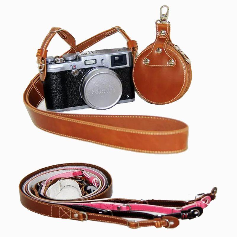 Vintage PU Leather DSLR Fast Camera Strap Shoulder Belt Neck Strap Fit Canon Nikon Pentax Fuji Leica Olympus Panasonic SLR