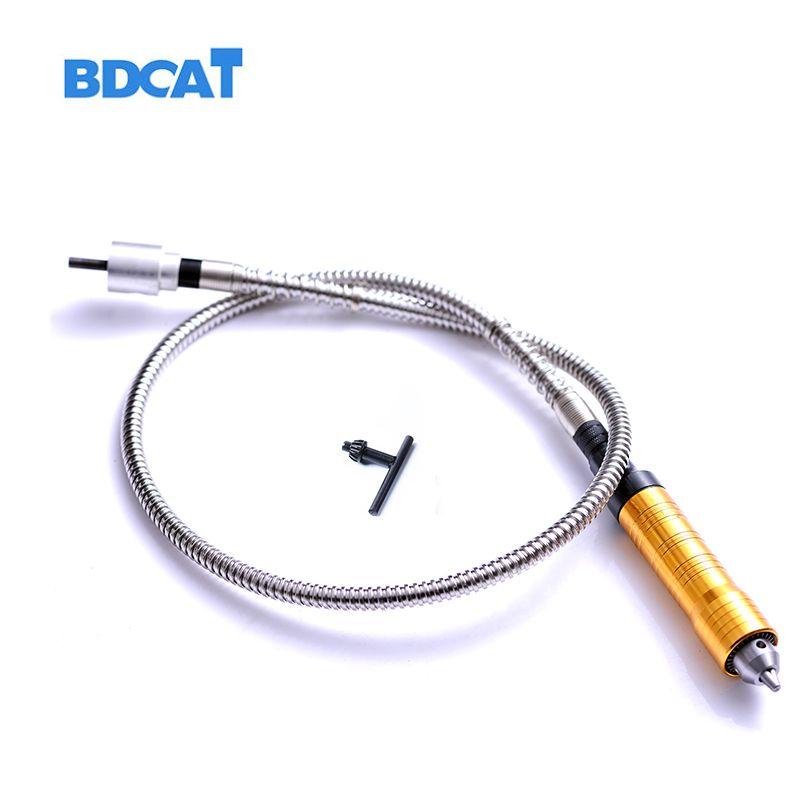 Arbre Flexible d'outil de meuleuse d'angle rotatoire de 6mm s'adapte à + pièce à main de 0-6.5mm pour l'outil rotatoire de foret électrique d'arbre de Flex de Style de Dremel