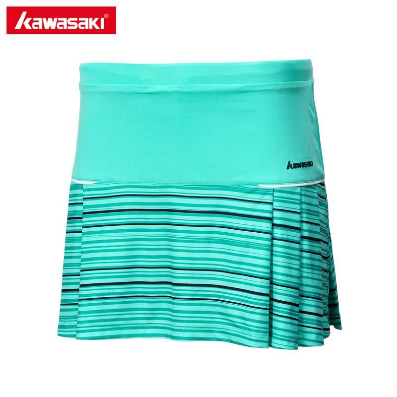 Kawasaki Respirant Polyester Jupes De Tennis Femme Pantskirt Anti-vidé Sport Jupes pour Badminton Running Fitness SK-172704