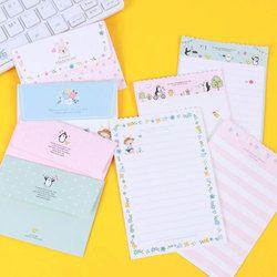 1 set = (4 feuille lettre papier + 2 pcs enveloppes) Mini fleur animal Lettre pad Ensemble/set papier à Bureau et D'école Supplie