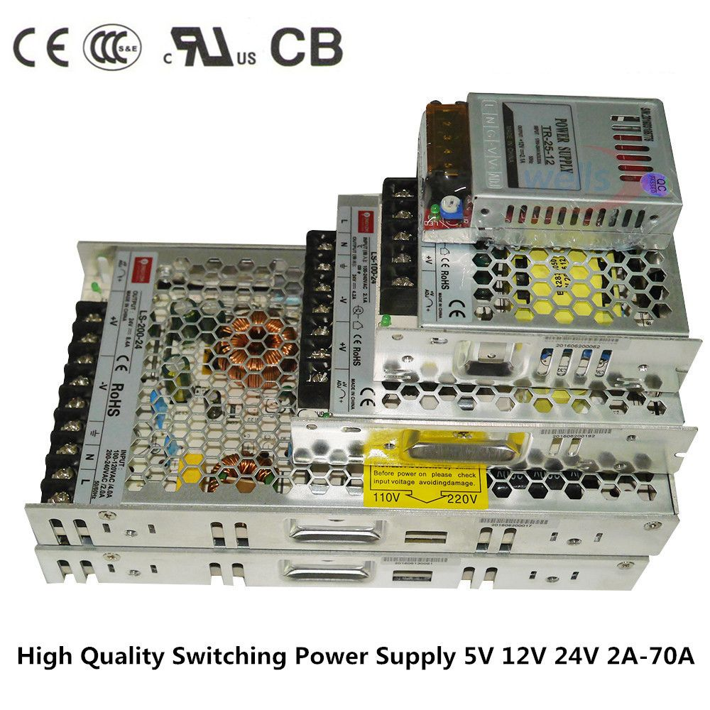 DC 12 V 24 V Slim transformator power 2A 4A 8A 10A 14A 16A 20A 29A power supply Switching Power,for 5050 3528 WS2812B strip