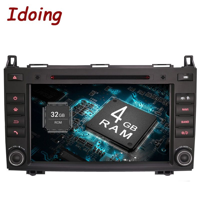 Idoing Android8.0/4G+32G/8Core/2Din For MercedesBenz AB Class W169 Car Multimedia Player Steering Wheel Video Wifi TV Fast Boot
