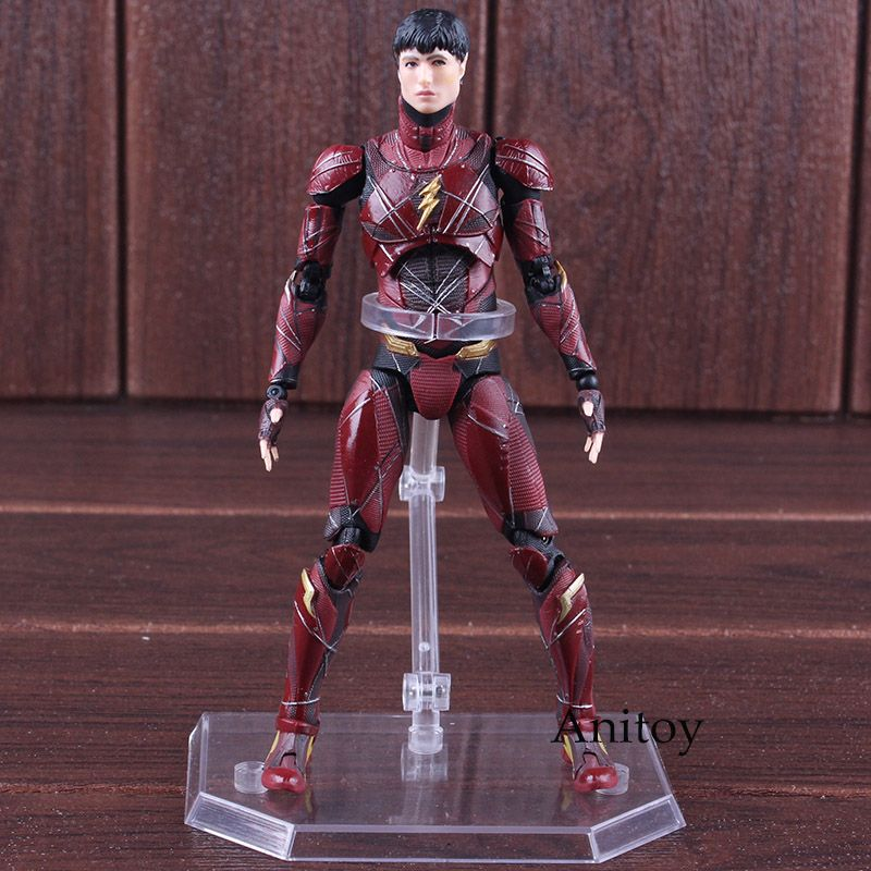 MAFEX MEDICOM TOY No.058 Justice League The Flash Barry Allen PVC DC Comics Action Figures Collectible Model Toy