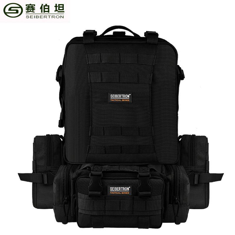 Seibertron outdoor reisetasche taktischen rucksack 33l schwarz und braun kombination rucksack nylon stoff feste einstellbare schulter
