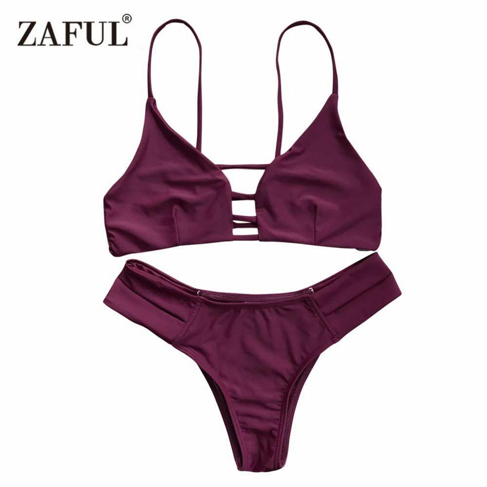 ZAFUL 2019 femme Bikinis Sexy Bandage Maillot De Bain maillots De Bain licou brésilien Bikini plage maillots De Bain Biquini Maillot De Bain