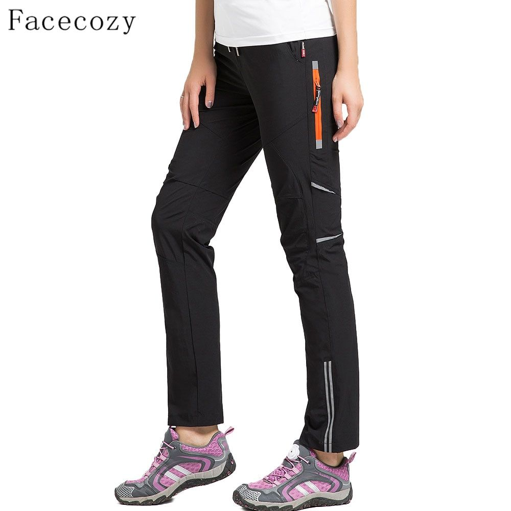Facecozy Women Summer Quick Dry Pants Elastic Nylon Breathable Tear-Resistant Trousers <font><b>Hiking</b></font>&Camping Outdoor Sports Pants