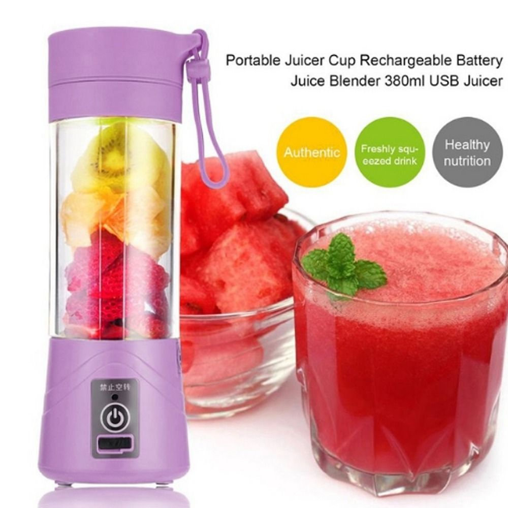 380ml USB Rechargeable Blender Mixer Portable Mini Juicer Juice Machine Smoothie Maker Household Small Juice <font><b>Extractor</b></font> New Drop