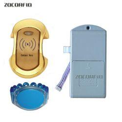 125 KHz Kartu RFID Kunci Loker Elektronik Kunci Kabinet Magnetik Menggesek Kartu RFID Locker Kabinet Kunci Pintu dengan RFID gelang