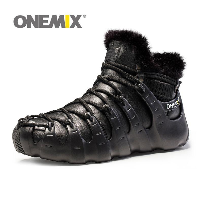 NEW Hot onemix Winter Men's Trekking shoes Anti Slip Walking Shoes Comfortable Warm Outdoor Sneakers for Women sneakers