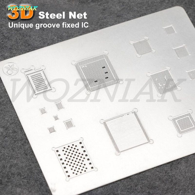 Unique groove fixed IC Professional 3D Tin plant net For iPhone 6 6S 6p 6sp 7 7p A8 A9 A10 CPU CHIP IC baseband Power Tin Mesh