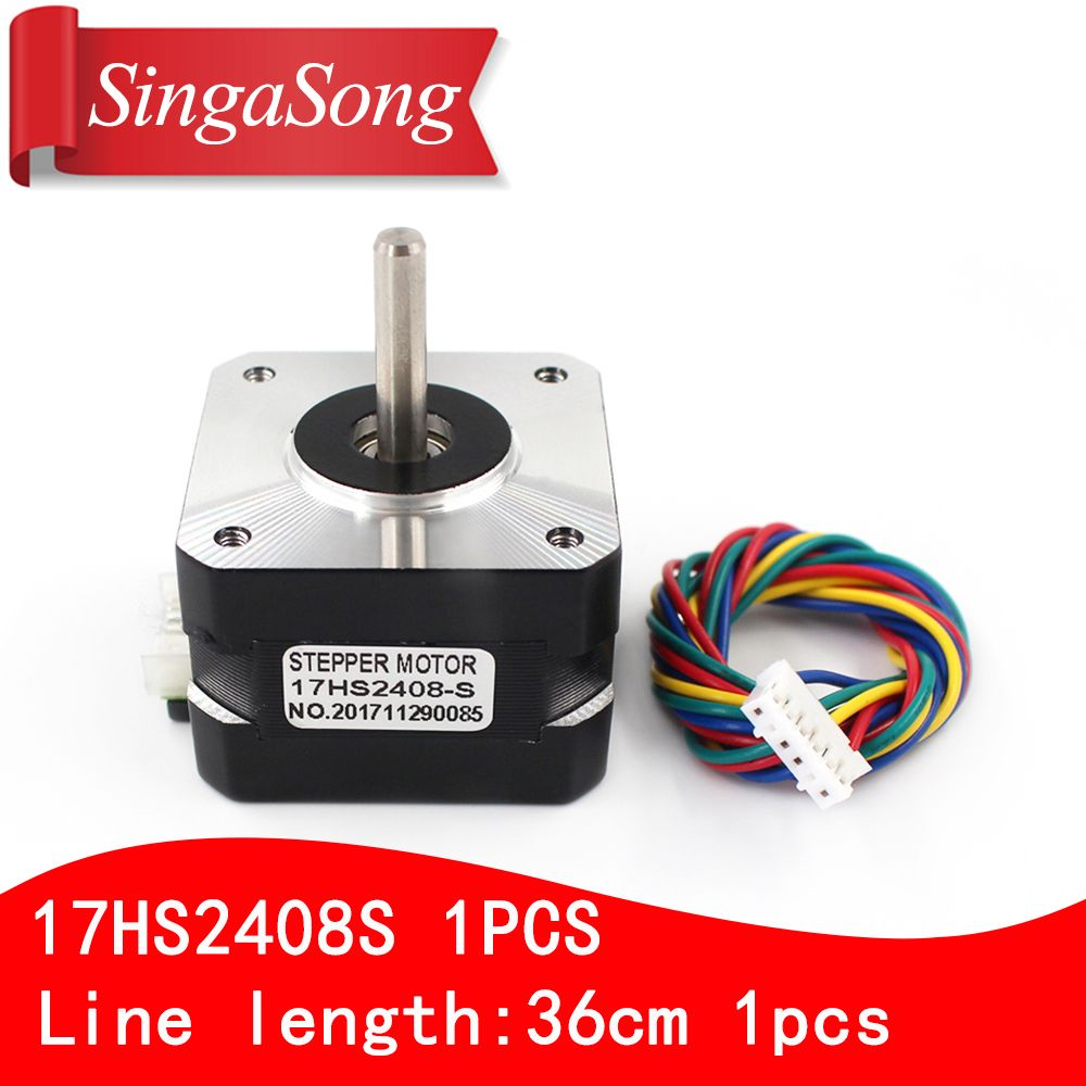 Nema 17HS2408 S 17HS2408S 4-lead Nema 17 Stepper Motor 42 motor 42BYGH 0.6A  CNC Laser and 3D printer