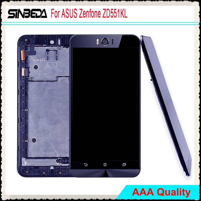 Sinbeda Phone display LCD Screen For ASUS Zenfone Selfie ZD551KL LCD Display Touch Screen + Frame Digitizer Assembly Free Tools