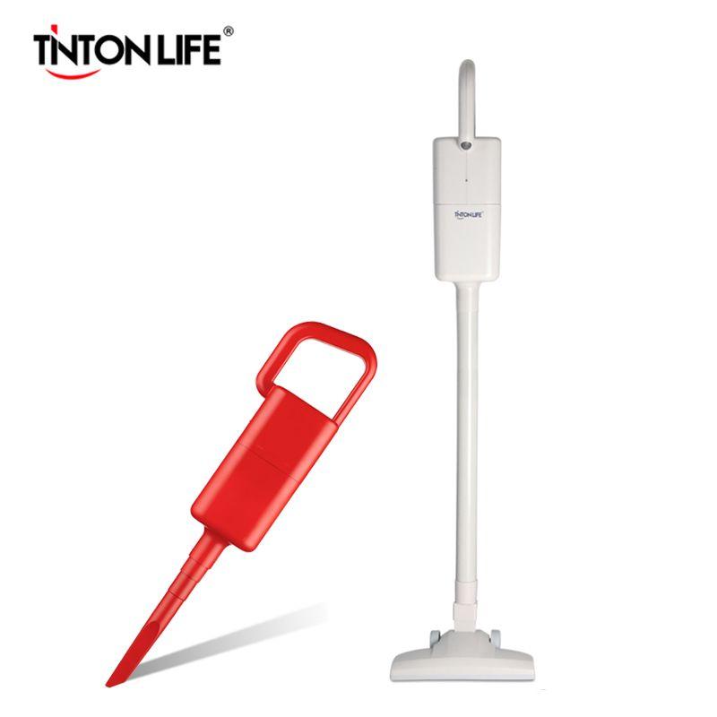 TINTON LIFE aspirateur à main et bâton sans fil pour aspirateur sans fil à domicile chargeur au Lithium rouge/blanc MD-1802