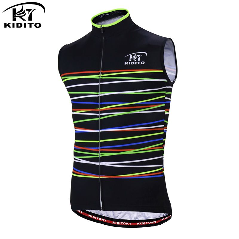 KIDITOKT Pro Sleeveless Quick-Dry Cycling Vests Breathable MTB Bicycle Clothing Cycling Mountain <font><b>Bike</b></font> Clothes Cycling Jersey