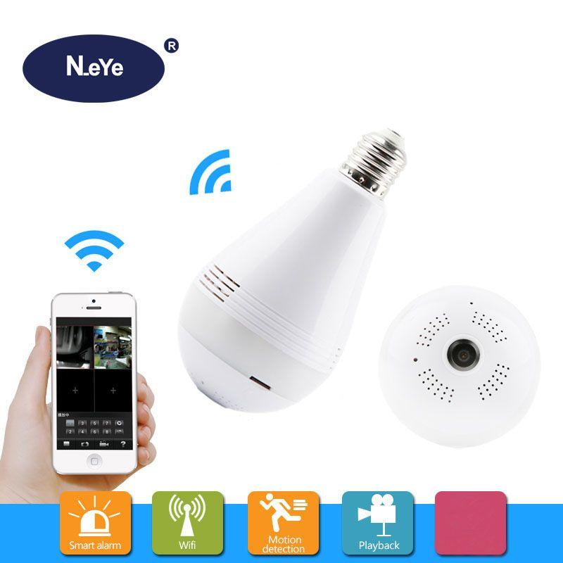 5PCS/Set Lamp Camera 360 WIFI 1080P 3MP Home Indoor WIFI CCTV Camera Professional Panoramic IR Night Vision Bulb IP Camera