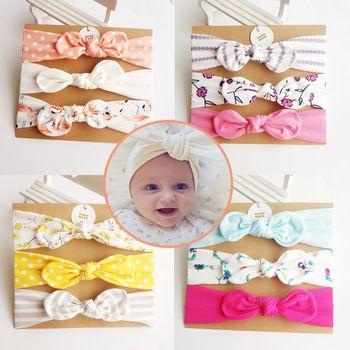 Corée Haute Qualité De Coton Fait Main Lapin Fleur Couronne Accessoires Cheveux Filles Bandeau Cheveux Bande Cheveux Arcs Cheveux Cravates Turbante-3