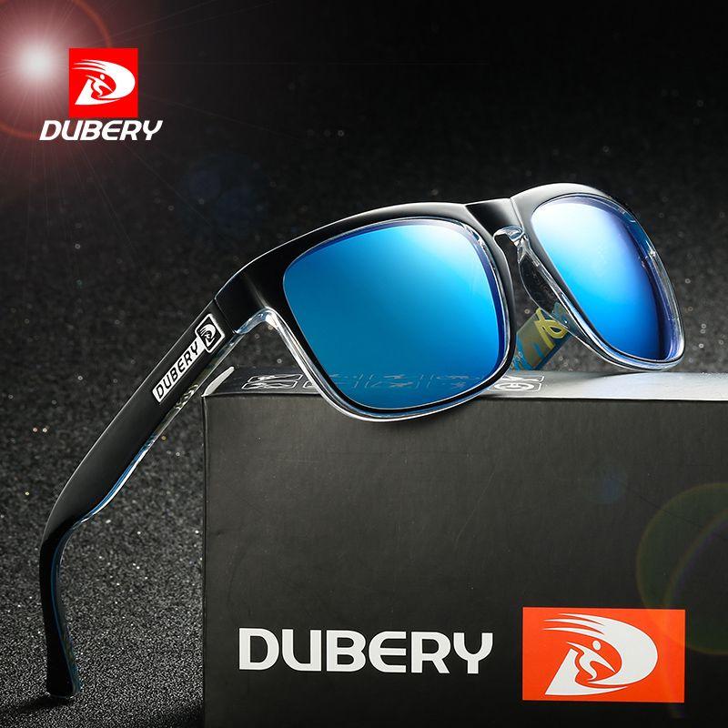 DUBERY Polarized Aviator Sunglasses Men's Vintage Male Colorful Sun Glasses For Men Fashion Brand Luxury Mirror Shades Oculos