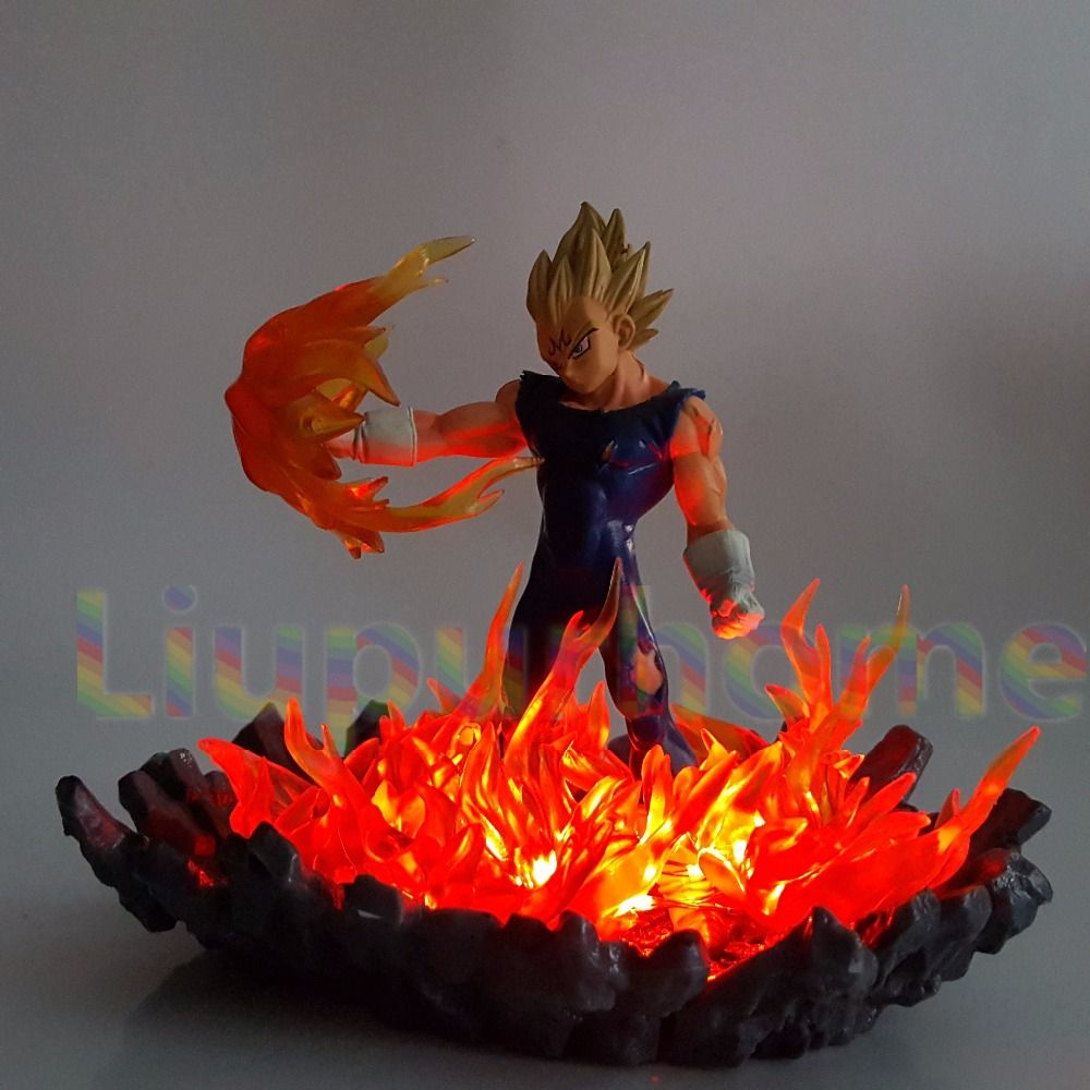 Dragon Ball Z Vegeta Super Saiyan Led Lighting Bulb Lamp Fire Base Dragon Ball Super Goku Vegeta Night Lights
