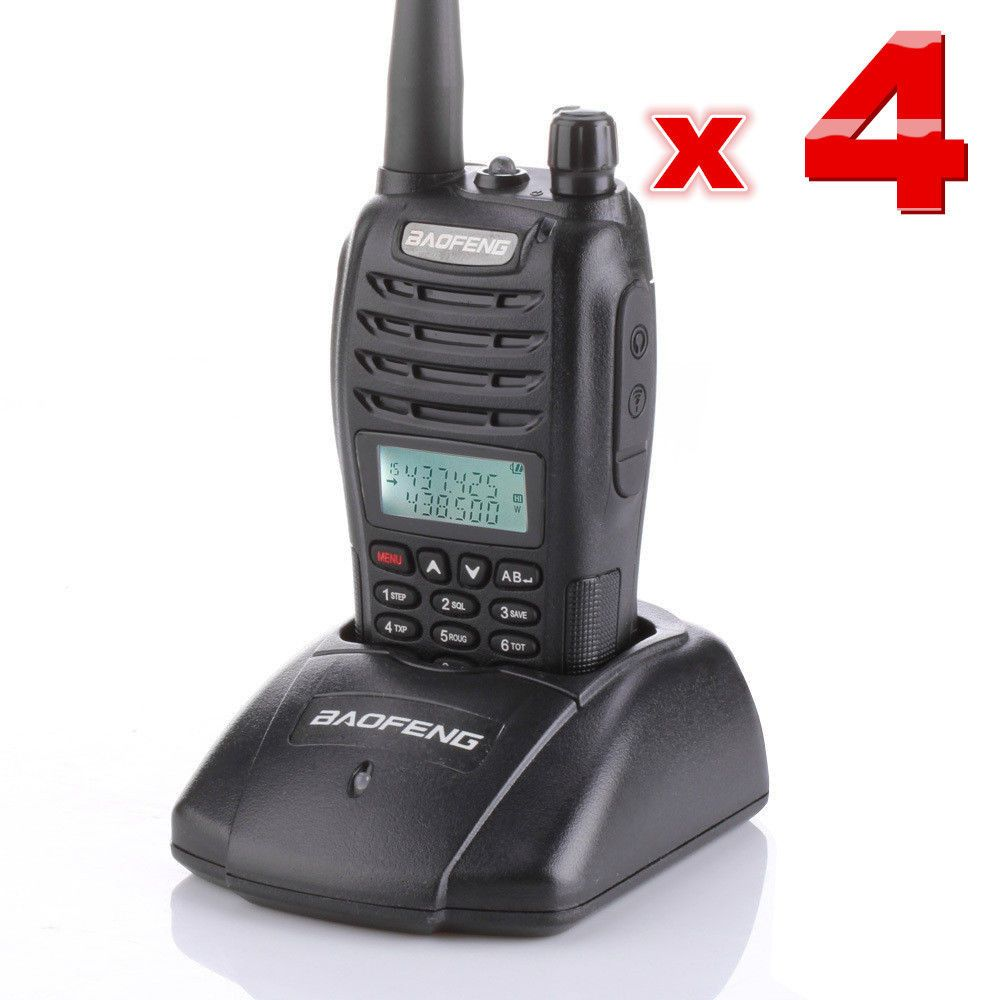 4-sets BAOFENG UV-B6 VHF/UHF 136-174/400-470MHz Dual Band Radio Walkie Talkies