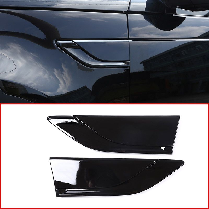 Car ABS Piano black Side Air Fender Vent Trim for Land Rover Discovery 5 LR5 2017 2018 L462 Auto Accessories Replacement Parts