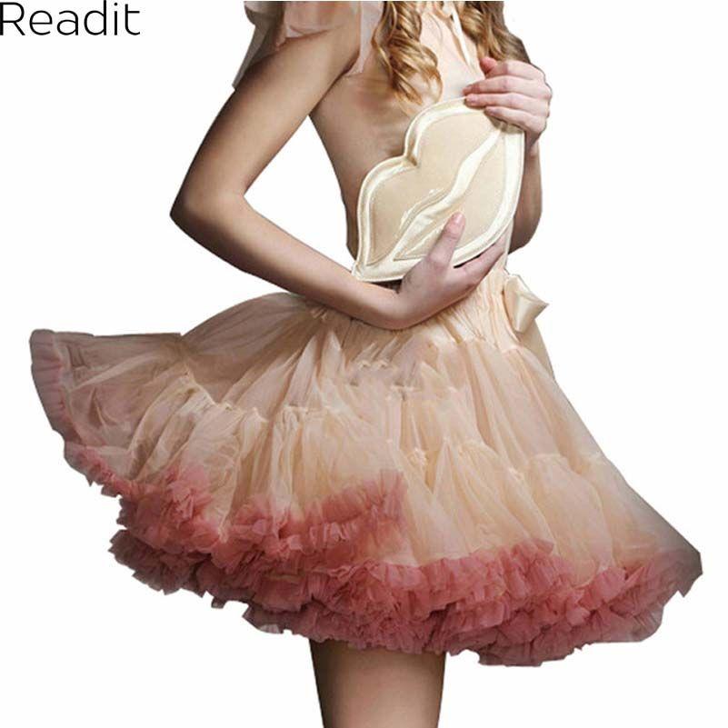 Sexy Micro <font><b>Skater</b></font> Mini Skirts Tulle Skirt Party Dance Tutu Skirt Women Lolita Petticoat Womens Faldas Saia jupe courte S1791