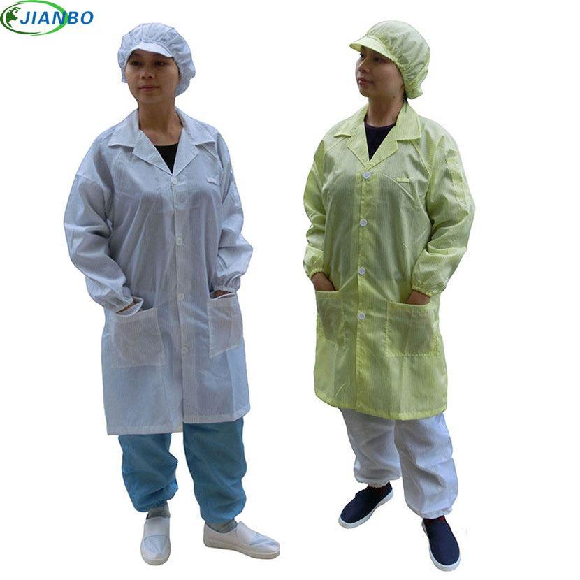 Vêtements de protection antistatiques d'été vêtements de salle blanche vêtements de travail ESD vêtements de travail antistatiques vêtements unisexe propres manteau tricoté